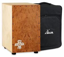 XDrum Cajon Hard Wood Birke Korpus Percussion Trommelkiste Rucksack Tasche Bag