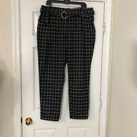 Fashion Nova Black And White Checkered Career Pants Size 2X