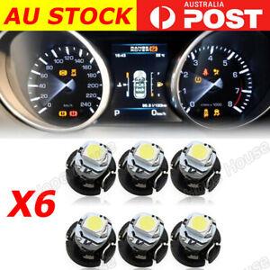 6x White T3 Neo Wedge SMD 2835 LED Twist lock Switch Dash LED Gauge