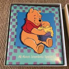 New Winnie The Pooh Scrapbook/Photo Memory Album Hallmark Newborn Baby Boy/Girl