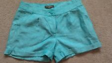 Tommy Bahama linen women's casual 4 pocket shorts, sz 6  teal color