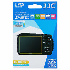 JJC LCD PET Guard Film Camera Screen Protector for Nikon COOLPIX AW130 Camera