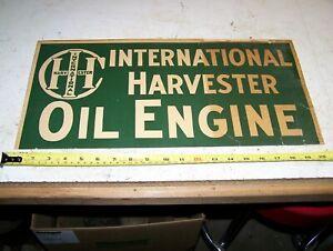 Original IHC OIL ENGINE Advertising Sign International Harvester Mogul Titan WOW