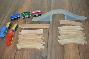 Lot of Brio Compatible Trains Wooden Track Thomas & Friends & More
