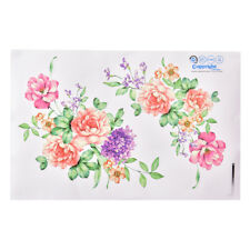 Peony Flowers Luxury Wall Stickers Art Home Decor PVC Removable Vinyl Decal PRH