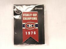 Montreal Canadians 1976 Stanley Cup Championship Banner Pin - Mint!