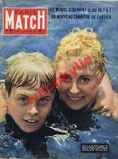 Paris Match n°387 du 08/09/1956 Incendie côte d'Azur Suez Préhistoire Marylin