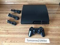 Sony PlayStation 3 PS3 Slim 320GB Game Console With Genuine Controller EXCELLENT