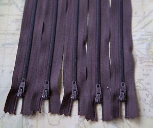 5  x  16cm    Dark Brown DRESS ZIPS ZIPPERS  (#   335    )
