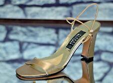Stuart Weitzman Women's Gold Elegant Strappy Jewels Heels Size 7AA 7 AA