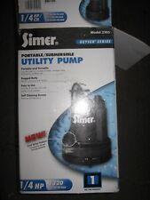 Simer 2305-04 Geyser Series 1/4 HP Portable / Submersible Utility Pump