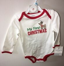NWT CARTER'S White Bodysuit 6 Months BABY My First Christmas Little Collections