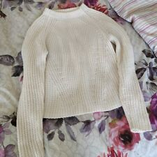 Zara pastel baby pink chunky thick cable knit jumper sweater XS S 4 6 8