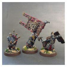 Games Workshop LotR 3 Iron hill Dwarfes Command squad METAL (UM)