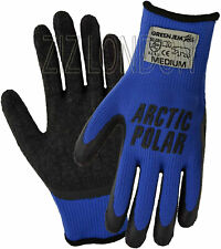 More details for 2 x artic polar extra warm extra grip winter working glove size medium (90) blue