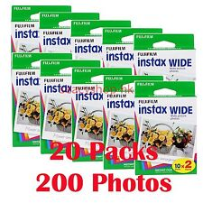 8 Packs Fujifilm Instax Wide Film 80 Sheets Fuji Instant Photos 210 300
