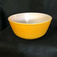"Vintage Anchor Hocking Fire King Fired On Orange 6"" Mixing Nesting Bowl VGUC"