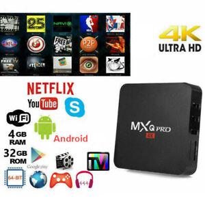 TV BOX ANDROID 10 4K FULL HD 1080P 4GB 32GB RAM SMART DECODER WIFI MXQ PRO