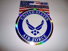"""United States Air Force 3 1/2"""" Prism Sticker Decal"""