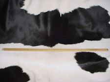 GROUNDWORKS WHITE BLACK 43.61 SF HAIR ON HIDE COWHIDE LEATHER UPHOLSTERY