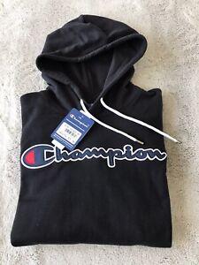 Mens Champion Hoodie Black medium New With Tags £64.99