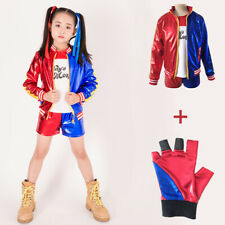 Halloween Girl Harley Quinn Costume Suicide Squad Kids Cosplay Fancy Dresses Top