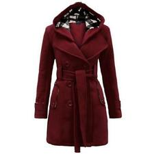 Womens Winter Warmer Luxury Elegant Long Hooded Woolen Paraka Jacket Trench Coat