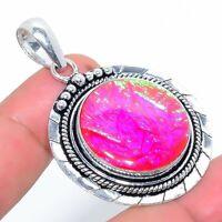 "Tripelet Opal Handmade Ethnic Style Jewelry Pendant 2.17"" KA-460"