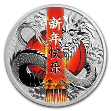Tuvalu 2017 Chinese New Year Dragon 1oz Silver Proof Coin