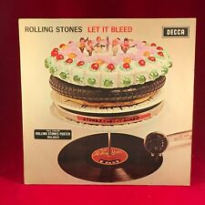 ROLLING STONES Let It Bleed 1969 UK MONO vinyl LP STICKER POSTER INNER original
