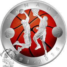 Canada 2016 $25 125th Anniversary of the Invention of Basketball Coin