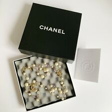 Chanel Long Pearl Necklace With Original Receipt