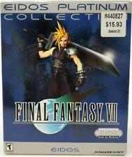 NEW SEALED vtg FINAL FANTASY VII 7 Eidos Platinum Collection PC 4-disc Set 1998