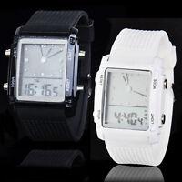 Fashion Unisex Womens Mens Digital Led Chronograph Quartz Sport Wrist Watch diy