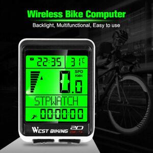 Kabellos Fahrradcomputer Tachometer LCD Funk Fahrrad Kilometerzähler Tachometer