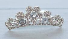 Flower Girl Bridal Crystal Rhinestone Tiara Comb 3 Inch wide Pick  #4031