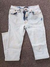 Nudie Jeans Thin Finn Organic Skinny Bleached Jeans W32 L34