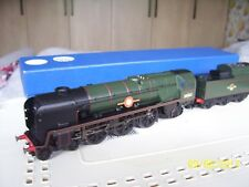 ' HORNBY MERCHANT NAVY CLASS - HOLLAND AMERICA  LINE ' - LOCO AND TENDER ' - NEW