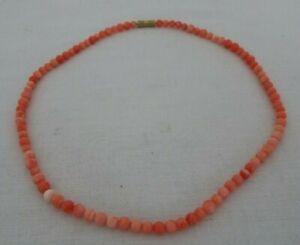 """Vintage coral 16"""" necklace"""