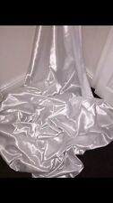 """1 MTR WHITE SATIN LINING FABRIC...58"""" WIDE"""