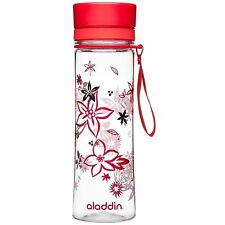 Aladdin Aveo Hydration Water Juice Bottle , Red Print, 0.6 Litre