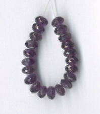 """FACETED AMETHYST RONDELLE BEADS - 3.5"""" Strand - 2373"""