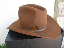 """Bailey Regal Cowboy Western Felt Hat Hickory Brown 6 7/8 Brim 4"""""""