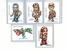 GAME OF THRONES #2 TV SERIES (5 CARDS) ART PRINTS JAIME KHAL DROGO DROGON RAK
