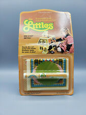 Vintage 1980s Mattel The Littles Die-Cast Dollhouse Furniture Rug and Pictures