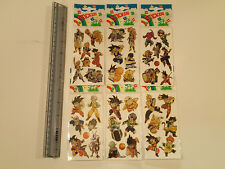 DRAGONBALL Z laser Holo Foil Stickers!  Set of 6 sheets of stickers! 41 stickers