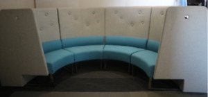 Ideas Materialised Grey & Blue Seating Booth
