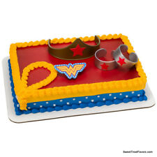 WONDER WOMAN Cake Birthday Party Decoration Favors Topper Kit Marvel Heroes Girl