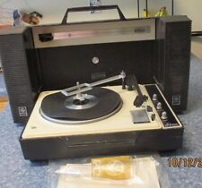 Vintage GE Wildcat Stereo Portable Record Player in Case