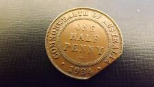 HALF PENNY 1934 CLIPPED PLANCHET RARE